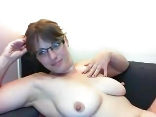 Blonde with glasses and her big tits x
