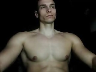 Greek Muscle Shy Boy Shows His Hard Cock 1st Time On Cam