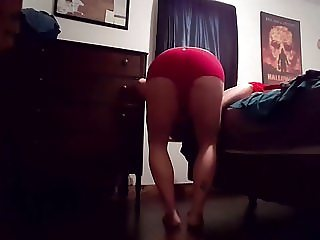 Trying on BBW worn panties clothes For Sale