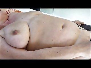Granny masturbating on the table