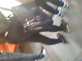 spy sexy ass teens girl in tram romanian