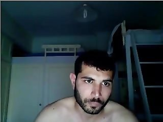 Greek Handsome Boy With Nice Cock,Big Round Ass On Cam