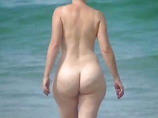 Big ass at the beach