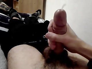 Wanking my Romanian dick til cum