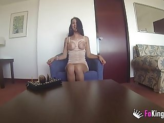Big boobed Spanish brunette wants information about porn