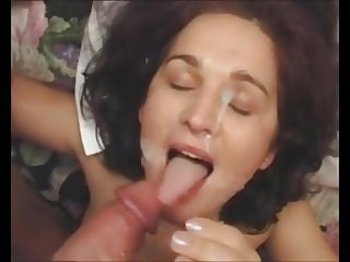 beautiful brunette facial 78